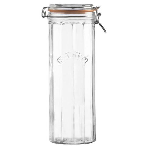 Kilner 2.2L Tall Facetted Glass Clip Top Spaghetti Jar